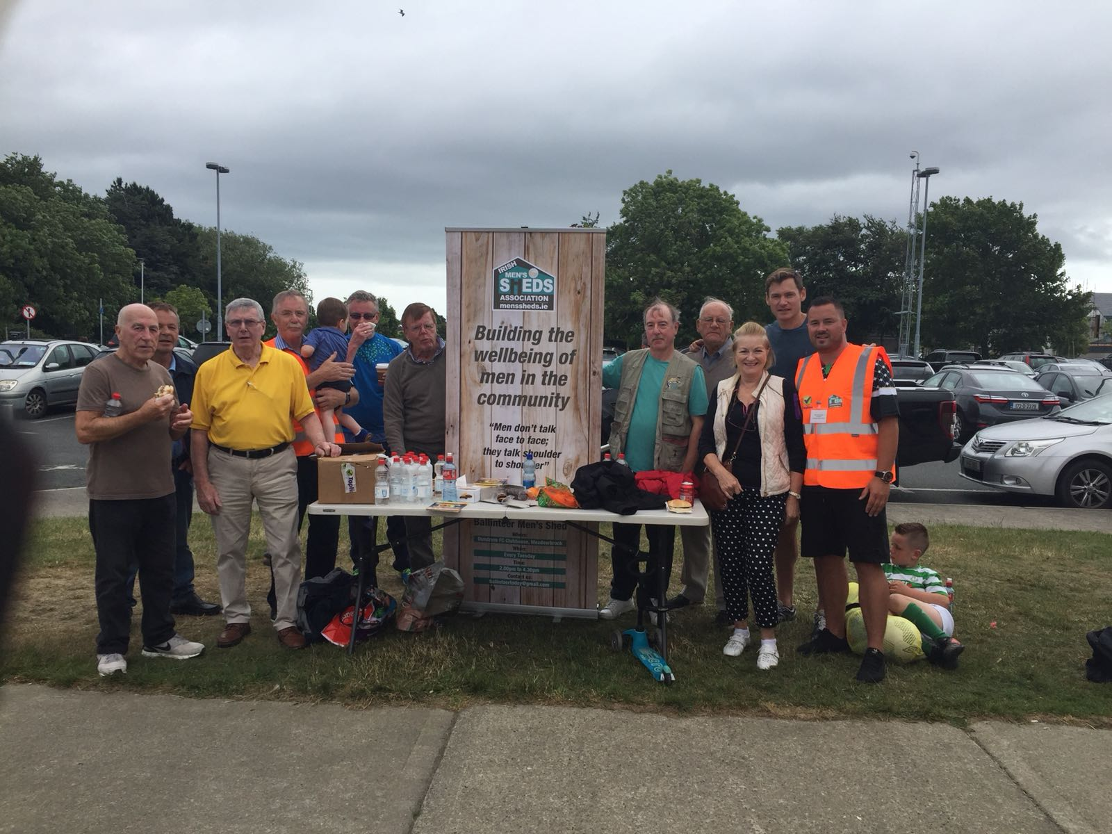 BARA and Men's Shed members celebrate the start of The Dundrum Festival with David Gillick - June 2018