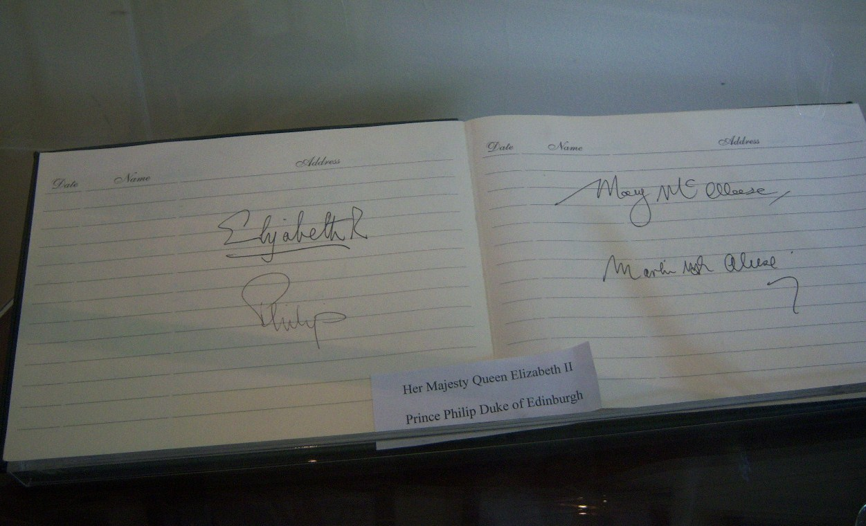 Signatures in visitor's book - Memorial Park - Island Bridge
