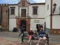 Chatting in a Spanish square - May 2018