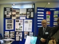 Sean Magee with exhibit in the Community Activities event